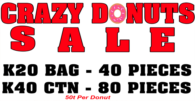 Crazy Donuts Sale! Contact our Sales team for more infor
